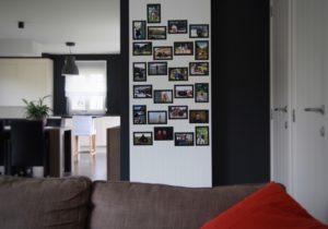fotomuur verwarming woonkamer